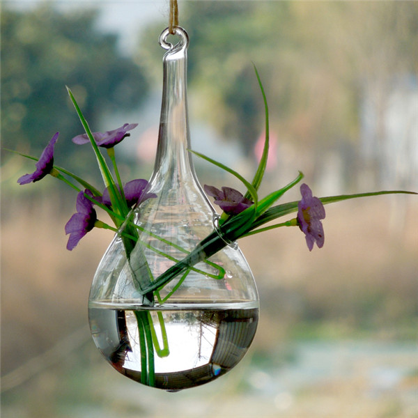24 стиля стеклянная подвесная Ваза Бутылка Террариум гидропонный горшок Декор цветочные растения контейнер орнамент микро пейзаж DIY домашний декор - Цвет: 8x16cm