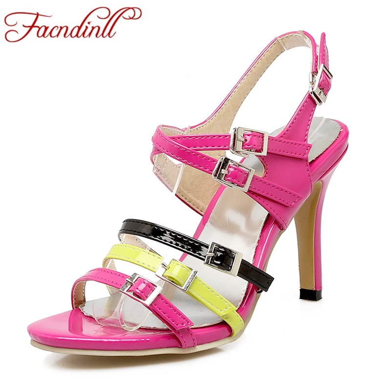 2017 sexy plus size summer women gladiator sandals pu leather thin high heels peep toe shoes woman dress party sandals shoes 2017 new sexy thin high heels peep toe shoes woman sandals genuine leather women silver party wedding gladiator summer sandals