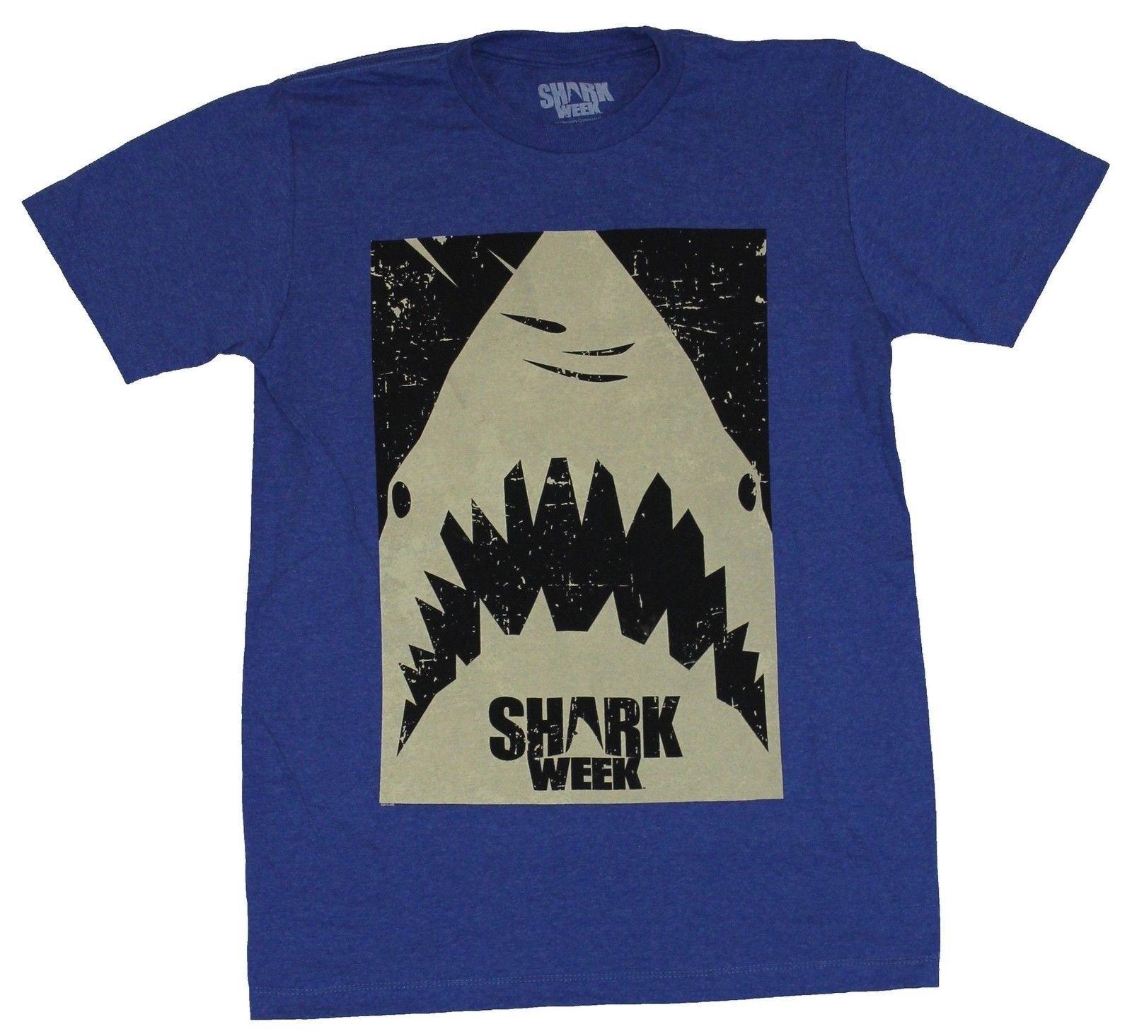 New Shark Week Couch Potato Funwear T-shirt Great White Beach Alert Summer Tshirt Hot New Fashion Free Shipping 2018 Shirts T-shirts