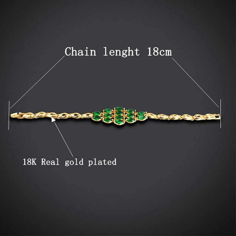 Vintage Charms Braclets For Women Braslet 2018,Pave Blue Crystal Gold Color Bracelet Jewelry