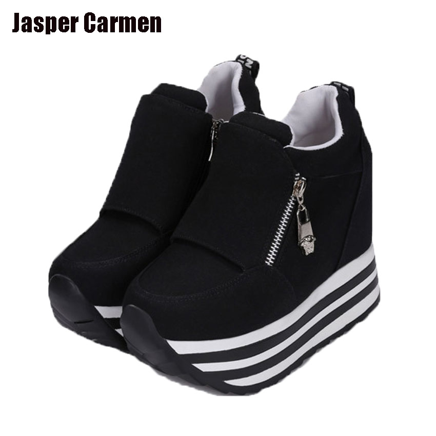Jasper Carmen zapatillas deportivas 2017 new autumn style shoes woman increasing heel fashion  zapatos mujer casual 46 kent jasper twelve