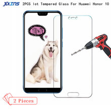 2PCS/lot Tempered Glass For Huawei Honor 10 Protect smartphone 9H Screen Protector HD film On Mobile Phone