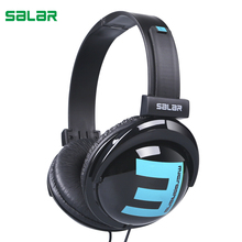 Salar Big E Portable Over Ear Headband Wired Earphone Gaming Headset Foldable Headphone for iPhone Laptop