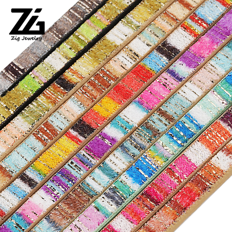 10 Colors 5mm Flat PU Leather Cord & Bohemia Rope Diy Jewelry Findings Accessories Fashion Jewelry Making Materials For Bracelet