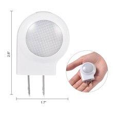 Ledgle mini led caracol luz da noite auto lâmpada de controle de sensor de luz embutida lâmpada de parede de luz para o quarto das crianças do bebê ue/eua plug