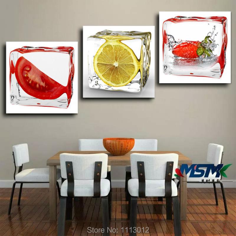 Sprey Müasir Abstrakt Meyvə Ev Divar Dekorasiya Yağlı Rəsm - Ev dekoru - Fotoqrafiya 3