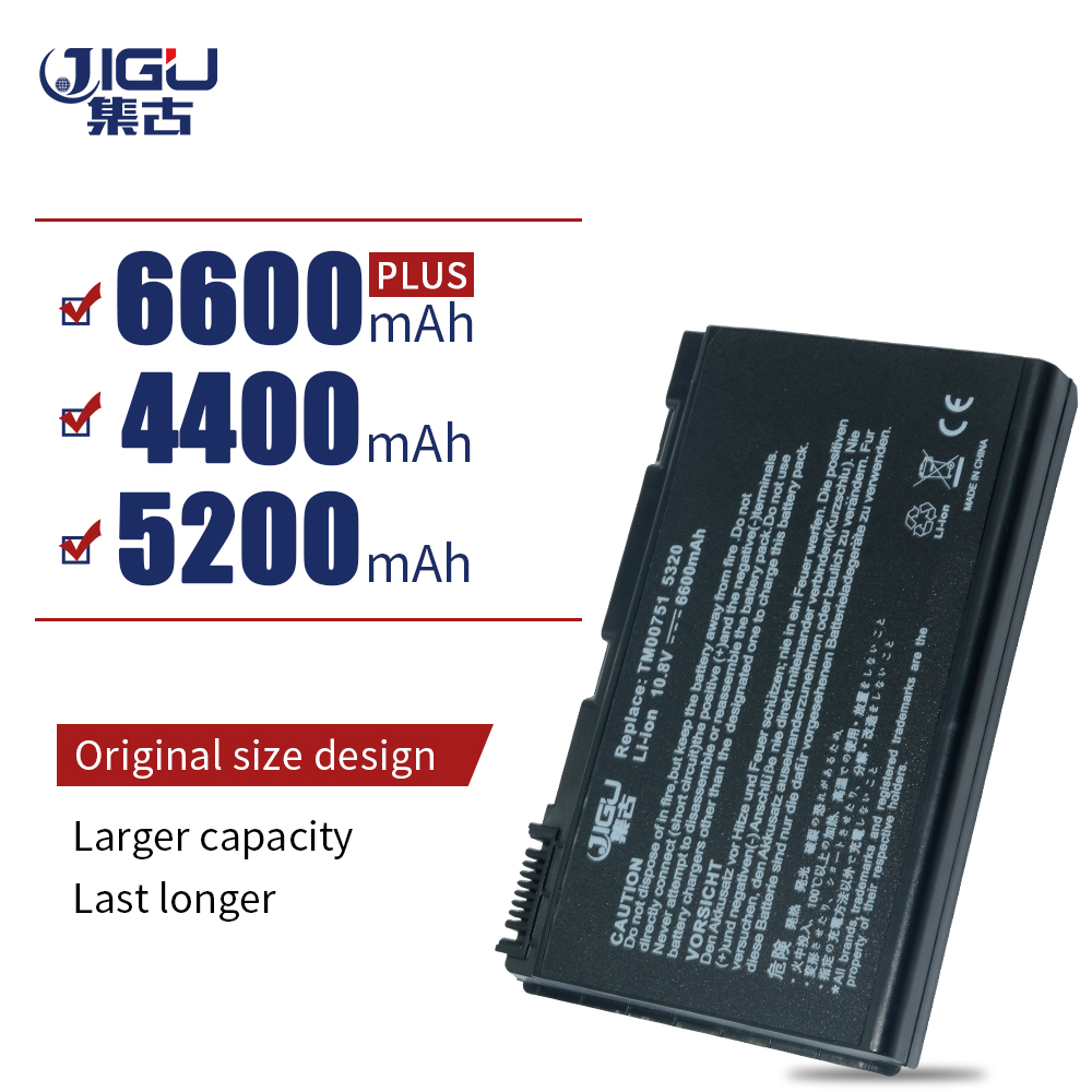 JIGU Laptop Battery For Acer GRAPE31 GRAPE32 GRPAE34 TM5720 TM7520 TM7720 TM00741 TM00751 Extensa 5220 5620Z 5620G <font><b>5630G</b></font> 7620G image