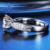 Clásico Anillo de Diamantes Para Las Mujeres Catedral Trevi 2CT Corte Redondo Diamante Simulado 14 K Oro Blanco de Halo Anillo de Compromiso de Boda anillo