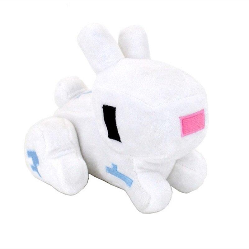 14cm Minecraft Rabbit Plush Stuffed Toys Cute Minecraft MC Animals Plush Toy Cartoon Game Toys Brinquedos