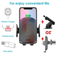 Fashion Wireless Charger Car Holder Automatic Infrared Sensor Cover Case For Samsung S8 S9 Note 9 8 S7 For iPhone X XS 8 Plus