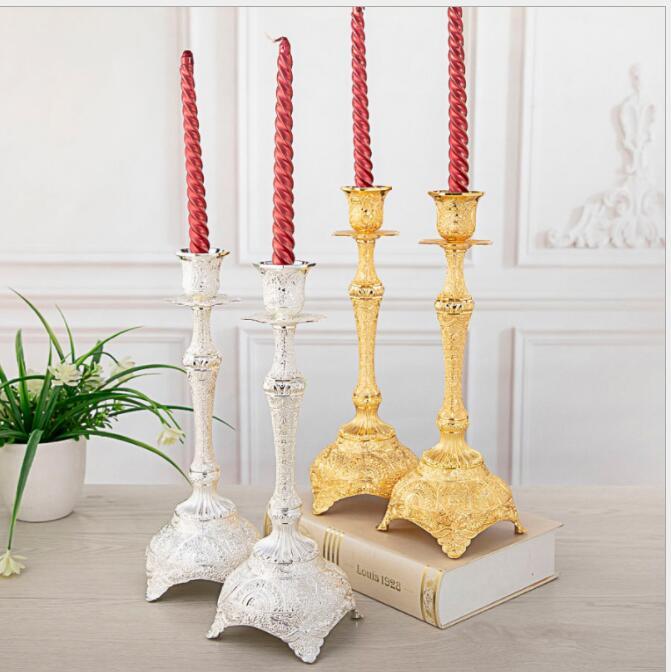 Bougeoirs en métal européen centre de table mariage bougeoir géométrique pour pièce maîtresse de table pour bâton de bougie ZT162