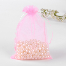 25x35cm Pink Jewelry Gift Bags 50Pcs/Lot Large Drawstring Organza Bags Pouch For Shoes Candy Favors Can Be Custom Logo