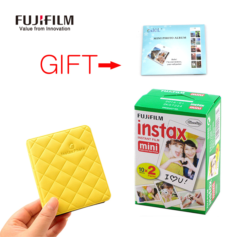 Prix pour Fujifilm instax mini 8 camera film 20 feuilles + 36 poches photo cas 3 pouce avec cadeau gratuit pour fuji instantanée mini8 7 s 25 50 s