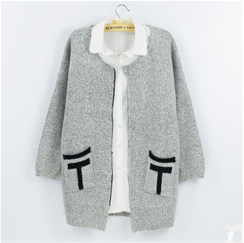 OLGITUM 2018 OLGITUM 2018 new Spring Autumn women cardigan sweater loose knit cardigan sweater coat was thin long coat for women