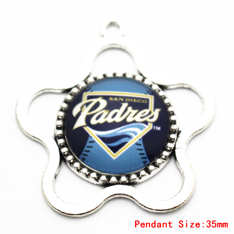 Hot selling Mix5pcs/lot Texas Rangers Baseball glass Team sports dangle charms DIY necklace pendant hanging charm jewelry