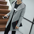 Mens Sweater 2016 New Plus Size Autumn Slim Fit Cardigan Men Simple Hooded Casual Sweater Men Long Mens Cardigans 4Colors 5XL-M