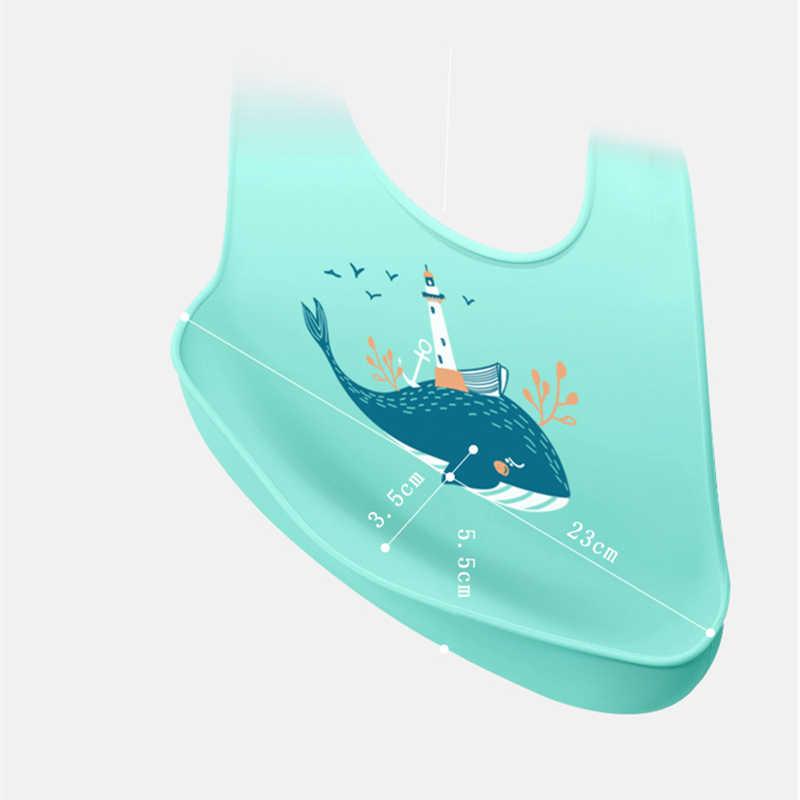 Bayi Oto Silikon Tahan Air Bayi Handuk Air Liur Newborn Kartun Celemek Bayi Oto Adjustable Bersendawa Kain Bandana