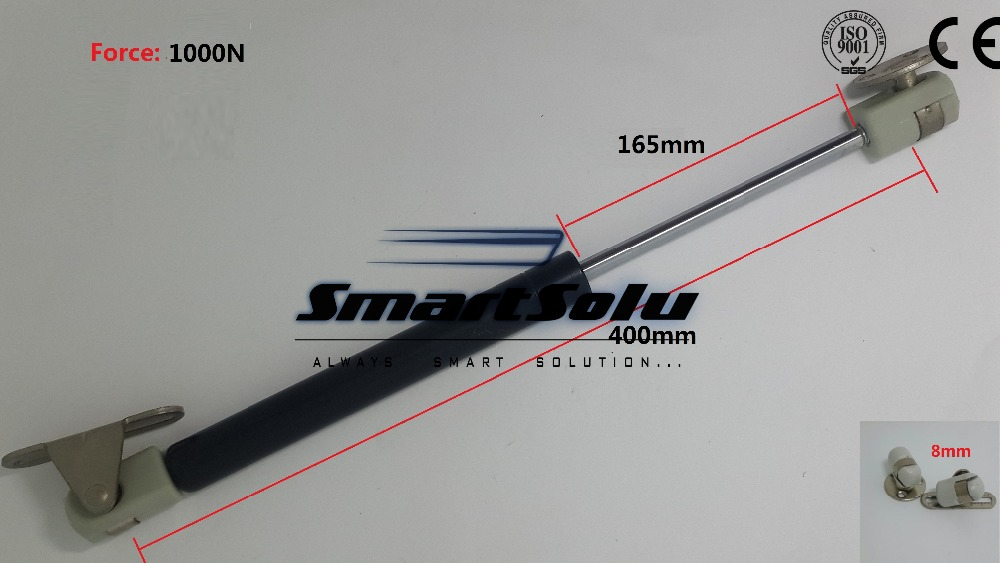 Free Shipping 400mmx165mmx1000N 165mm Stroke 1000N Force Gas Spring Lift Strut Prop Damper free shipping500mm central distance 200mm stroke 80 to 1000n force pneumatic auto gas spring lift prop gas spring damper