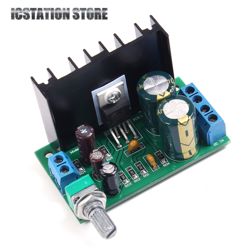 TDA2050 25W Mini Mono Amplifier Module Digital Audio Amplifier Power Amp Board Power Amplifier Volume Adjustable Single Channel adjustable bass treble two divider hifi module game pwm modulation digital amplifier for speaker audio crossover repair parts