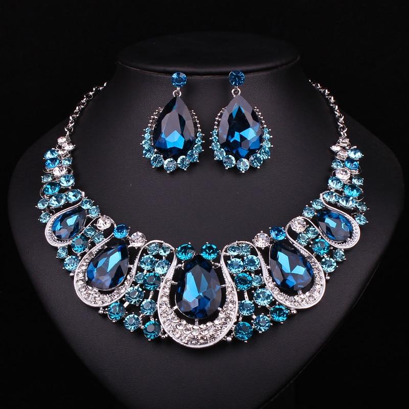 Aliexpress Com Buy New Fashion Necklace Earrings Bridal: Aliexpress.com : Buy Fashion Indian Jewellery Sapphire