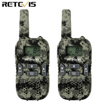 2pcs Retevis RT33 Mini Walkie Talkie Kids Radio Camouflage 8CH 0.5W PMR446MHz Scan VOX CTCSS/DCS Gift(China)