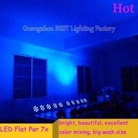 6pcs Lot Fast Shipping American DJ Stage Lightings Disco LED Light Wash RGB Uplighting LED SlimPar