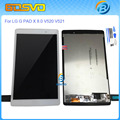 """High quality Replacement For LG G PAD 8.0"""" V520 V521 V521WG lcd display with touch screen digitizer assembly white black color"""