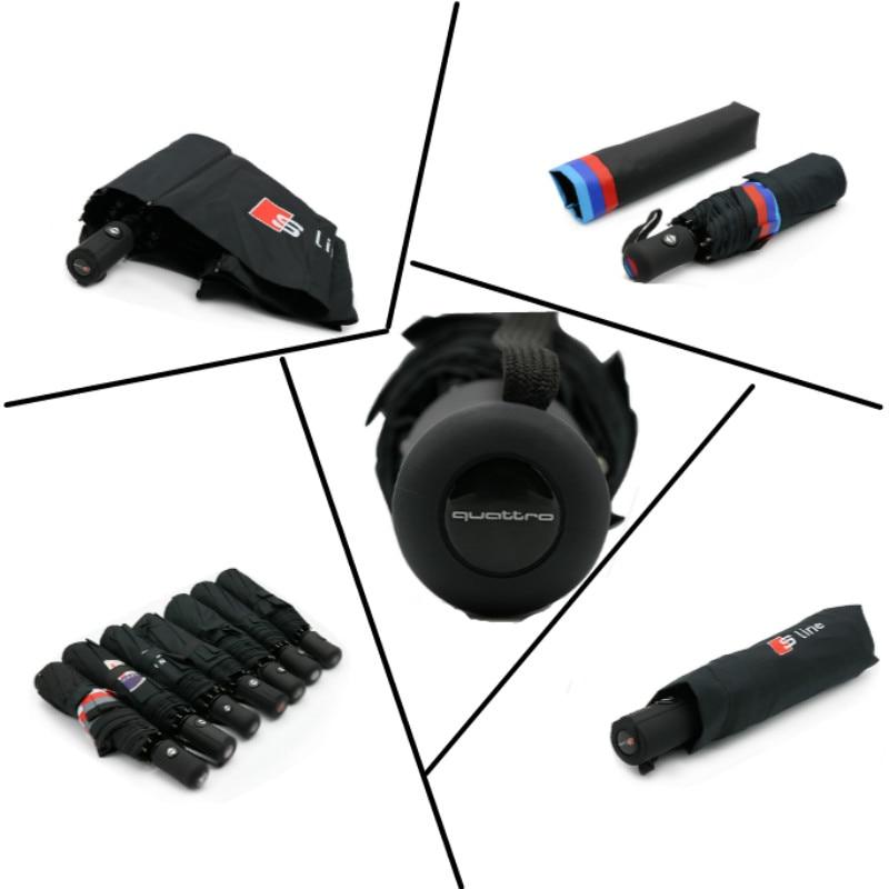 All-Automatic Umbrella For Audi A4 B6 B8 A1 A3 A6 C5 C6 80 A5 A7 Q3 Q5 Q7 TT S3 S4 S5 S6 S7 S8 RS RS3 RS4 RS5 RS6 SLINE S line car door flashing strobe warning light for audi a3 a4 b6 b8 b7 a6 c6 c5 a7 a8 a5 q3 q7 q5 80 tt s line rs s3 quattro