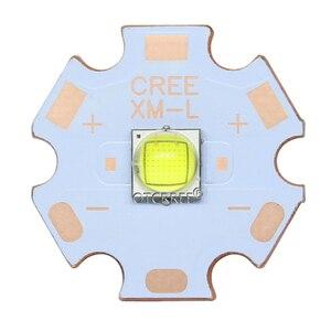 Image 4 - CREE XLamp XM L2 XML2 T6 10W Cool สีขาว 6500K ไฟ LED Emitter ไดโอดสำหรับไฟฉาย 16 มม.สีดำหรือ PCB สีขาว
