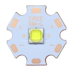 Image 4 - קריס XLamp XM L2 XML2 T6 10W מגניב לבן 6500K מתח גבוה LED אור פולט דיודה עבור פנס על 16mm שחור או לבן PCB