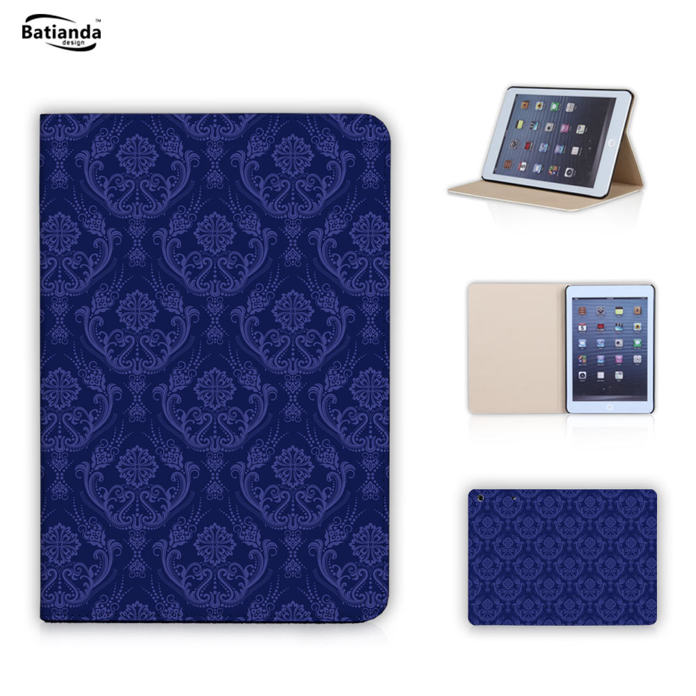 Fashion Damask Stand Magnetic Function Tablet Case Skin for Ipad Mini 1 2 3 Case For Ipad Mini Case Leather Shell