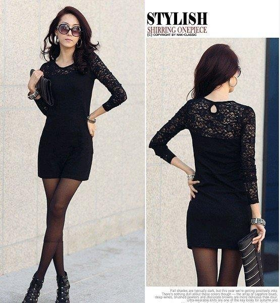 Free shipping women ladies sexy cotton lace dress, maxi casual dress S-XXXL size for spring and autumn promotion Sexy Club Dress