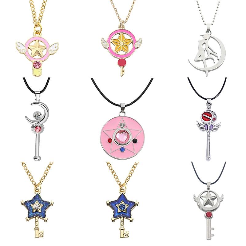 Japanese Anime Sailor Moon Samantha vega Necklace Pendant Chain Choker Crystal