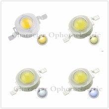 50pcs 1W 3W Cool/Pure White Warm White Cold White 200~260LM LED Emitter Light Lamp 3000k 4500k 10000k 20000k 30000k