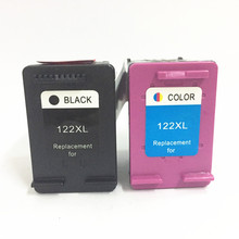 1set of  Black & Tri-color Refilled Ink Cartridge CB563HE CB564HE For HP122 XL