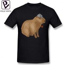 Capybara T Shirt Sherlock T-Shirt Short-Sleeve Male Tee 4xl Fashion 100 Cotton Fun Printed Tshirt