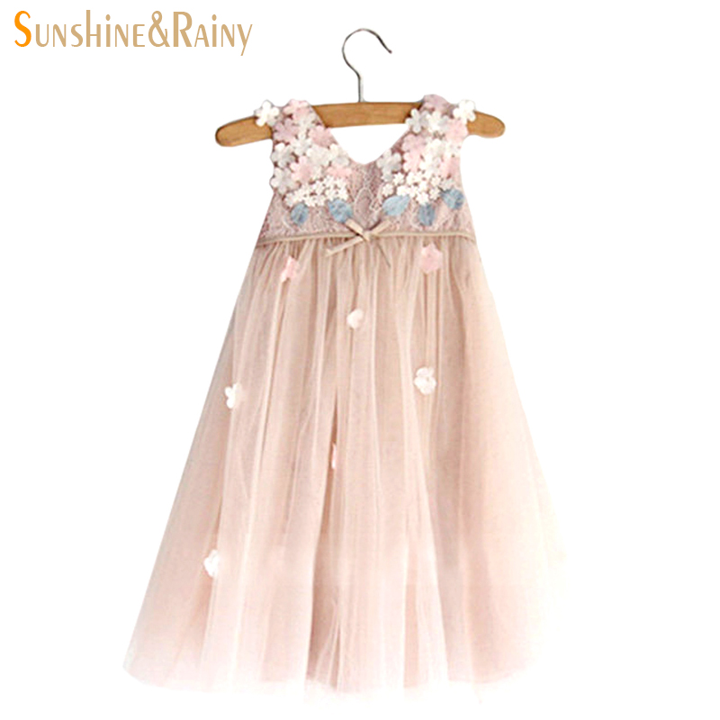 58331ca00 Girl Dress 2~10Y Baby Girl Clothes Summer Lace Flower Tutu Princess ...