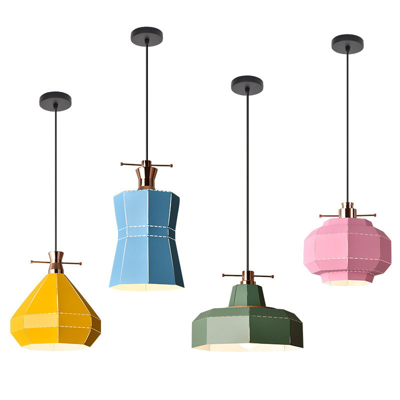 Industrial Wind Loft Style Iron Droplight Lamp Modern LED Pendant Light Fixtures Dining Room Simple Hanging Lamp Home Lighting