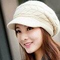 Новое Прибытие Фуражке Женщины Hat Зимние Шапки Вязаные Кролик Смесь Шляпы Для Женщины Леди Головные Уборы Ткань Аксессуар покемон шляпа
