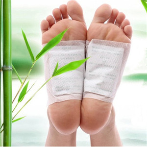 Image 1 - 20pcs=(10pcs Patches+10pcs Adhesives) Detox Medical Foot Patches Herbal plasters weight lose Feet Slimming Cleansing Foot Z08025