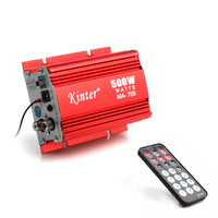 Kinter MA 700 500W Digital Car Motorcycle 2 Channels Audio AMP Amplifier FM Stereo Radio with Remote Support USB MP3 FM Input