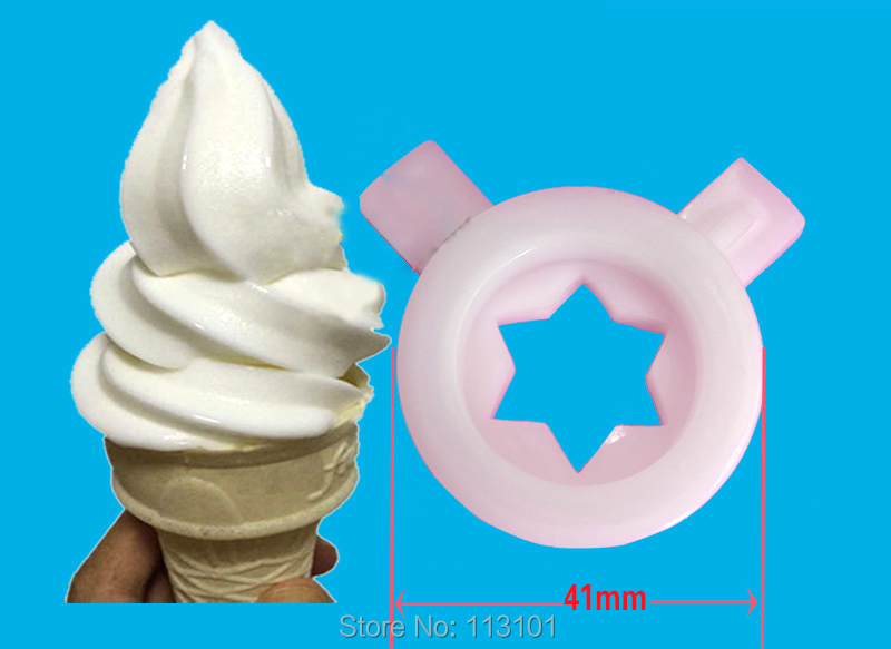 White Color Hexagram Star Modelling Caps Of Ice Cream Machine Spare Part Accessories Wide Varieties Kitchen Appliance Parts Home Appliance Parts