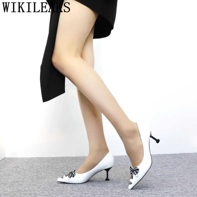 รองเท้า orange รองเท้าส้นสูงสีดำปั๊มรองเท้าผู้หญิงเซ็กซี่รองเท้าส้นสูงรองเท้าแต่งงานเจ้าสาวหรูหรารองเท้าส้นสูง chaussures femme buty damskie