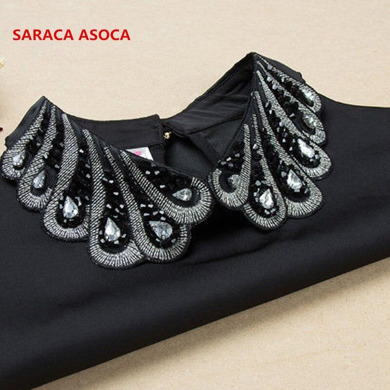 Wholesale  Detachable Fake Collar Vintage Fashion Diamond Women's A131 A136Fake Collars Shirt