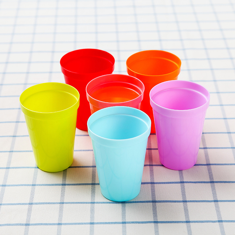 6pcs Outdoor Travel Portable Cup Camping Food Grade Rainbow Children's Picnic Mountaineering Water bottle ultralight mug image