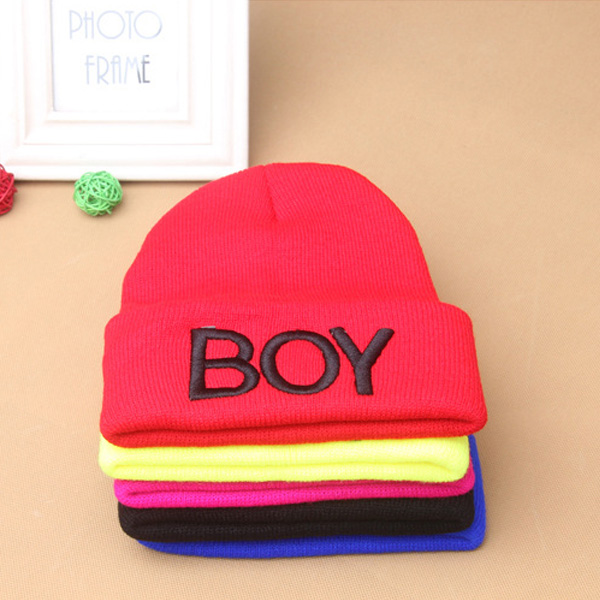 f167590c0a7 Baby Girls Boys Knitted Beanie Woolen Skull Hats Toddler Ski Hats BOY Caps