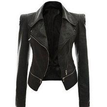 2018 пальто горячая куртка Женская зима осень модная мотоциклетная куртка черная искусственная кожа пальто Верхняя одежда дропшиппинг