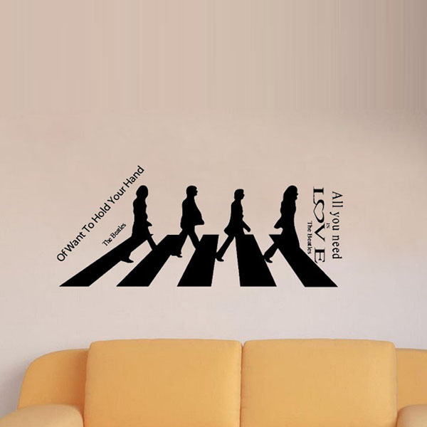 Beatles Quotes Love Unique All You Need Is Love The Beatles Large Wall Stickers Quote Home