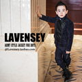 Lavensey Newest Double Breasted Boys Jacket Turn Down Collar Kids Wind Breaker High Grade Long Sleeve Children Outer Wear