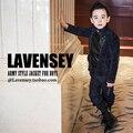 Lavensey Reciente Turn Down Collar Doble de Pecho Chaqueta de Los Muchachos Niños Rompe Vientos de Alto Grado de Manga Larga de Los Niños Ropa Exterior